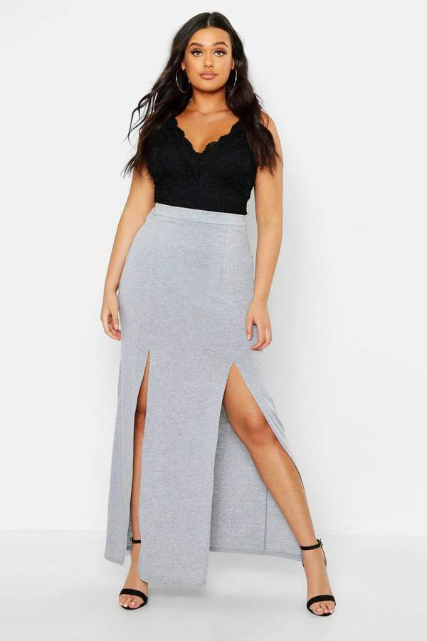 6bcb0d205f Grey Jersey Maxi Skirt - ShopStyle UK