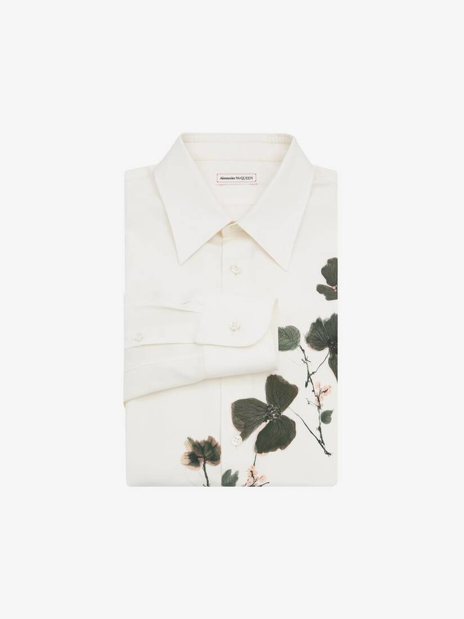 Alexander McQueen Camo Ink Floral Shirt