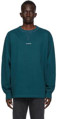 Acne Studios Green Logo Fleece Sweatshirt