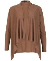 Dorothy Perkins Womens *Mela Brown Waterfall Cardigan- Grey