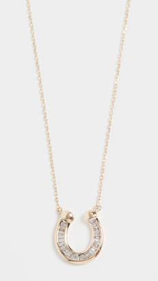Adina Baguette Horseshoe Necklace