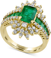 Effy Final Call Emerald (2-1/3 ct. t.w.) and Diamond (3/4 ct. t.w.) Ring in 14k Gold