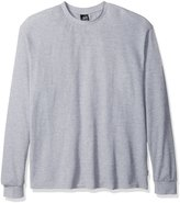 Southpole Men's Basic Thermal in Solid Colors, Heather Grey