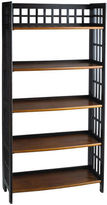 Pier 1 Imports Fretted Rubbed Black Tall Folding Shelf