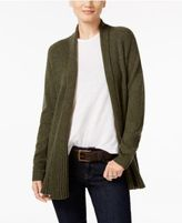 Charter Club Cashmere Ribbed Open-Front Cardigan, Only at Macy's