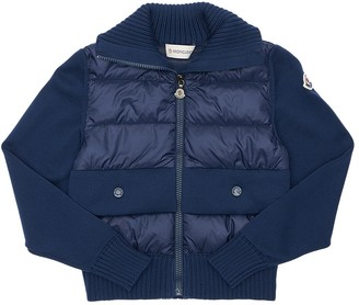 Moncler Cotton Knit & Nylon Down Jacket