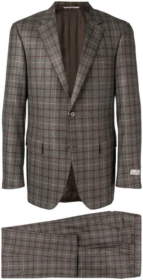 Canali check two piece suit