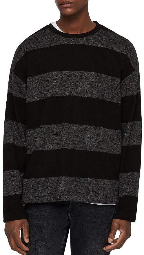 AllSaints Bendela Striped Crewneck Sweater