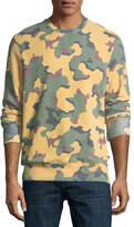 Eleven Paris Camouflage Fleece Pullover Sweater
