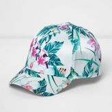 River Island Mini girls White tropical print cap