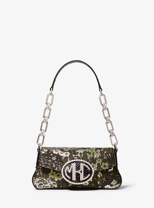 Michael Kors Monogramme Mini Floral Brocade Shoulder Bag