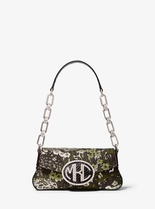Michael Kors Monogramme Mini Floral Brocade Shoulder Bag