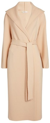 The Row Eliona Wool-Cashmere Hooded Coat