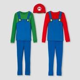 Mario Boys' Super Mario 4pc Pajama Set - Blue
