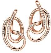 Fei Liu Fine Jewellery Serenity Sterling Silver Rose Gold Plated High Polish Stud Earrings SER925P-203-CZ00
