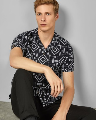 Ted Baker Short Sleeved Cotton Printed Shirt