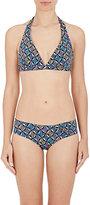 Bantu Women's Star-Print Halter Bikini Set-Yellow, Purple