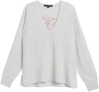 360 Cashmere Joan Embroidered Wool & Cashmere Sweater