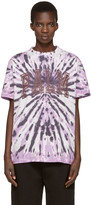 Palm Angels Purple Tie-dye T-shirt