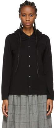 Comme des Garcons Black Ruffled Collar Shirt
