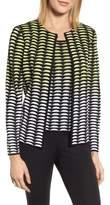 Ming Wang Ombre Jacquard Knit Jacket