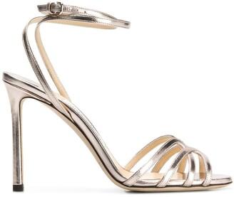 Jimmy Choo Platinum Mimi 100 sandals