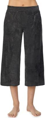 ROOM SERVICE Crop Wide Leg Lounge Pants