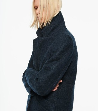 Andrew Marc Paige Plus Pressed Boucle Wool Coat