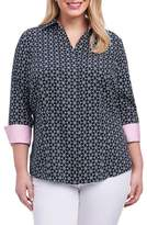 Foxcroft Taylor Optic Floral Print Shirt