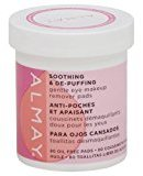 Almay Eye Makeup Remover Pads, Gentle, Soothing & De-Puffing 80 Pads (Pack of 2) by Cos
