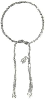 Carolina Bucci Strength Scarab Charm Lucky Bracelet - White Gold