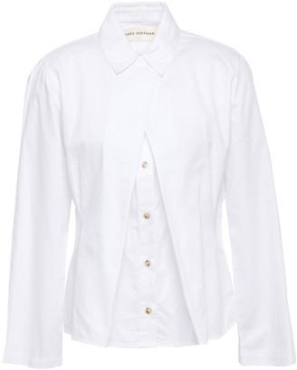 Mara Hoffman Lucia Pleated Cotton-poplin Shirt