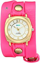 La Mer Women's LMODYREFINERY001 Neon Pink/Gold Odyssey Watch