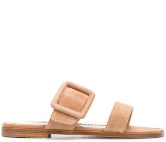 Manolo Blahnik Gable buckle sandals