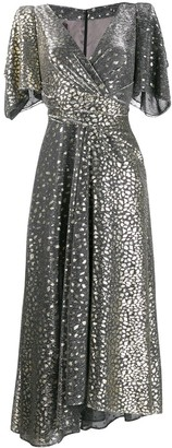 Talbot Runhof v-neck sequin dress