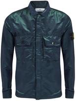 Stone Island Petrol Blue Iridescent Shell Jacket