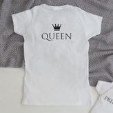 My 1st Years White Ladies Queen T-shirt