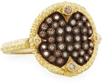 Armenta Old World Pave Diamond Disc Ring, Size 5-8