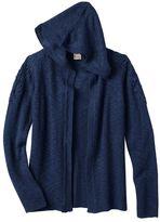 Mudd Girls 7-16 Crochet Hooded Cardigan