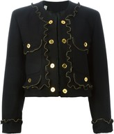 Moschino Pre Owned zipper detail jacket