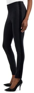 INC International Concepts Inc Velvet-Trim Skinny Ponte Ankle Pants, Created for Macy's