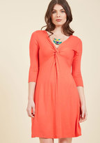 ModCloth Dress for Yes Knit Dress in Coral in L