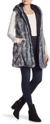 Via Spiga Faux Fur Reversible Long Vest