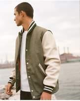 Rag & Bone Varsity jacket w/ leather sleeve