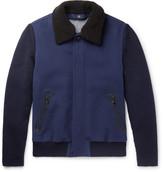 Ermenegildo Zegna Shearling-Trimmed Cashmere and Wool Jacket