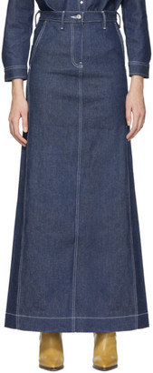 Levi's Levis SSENSE Exclusive Indigo Work Skirt