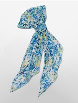 Calvin Klein Petal Print Chiffon Scarf
