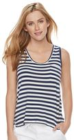 Women's SONOMA Goods for LifeTM Striped Scoopneck Tank