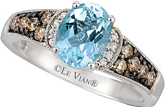 LeVian Le Vian 14K 1.23 Ct. Tw. Diamond & Aquamarine Ring