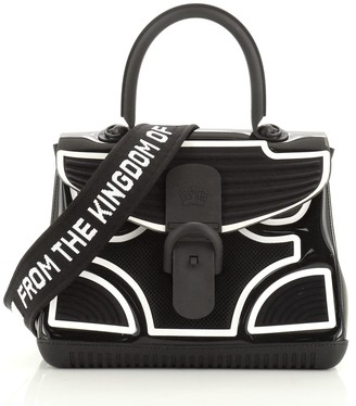 Delvaux Champion Brillant Top Handle Bag PVC and Rubber MM